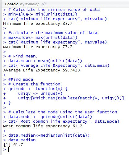 Descriptive statistics with sql and r 1 curiousabout data to be noted that the values of max min mean and mode are exactly the same as what we got from t sql which means this is correct ccuart Gallery